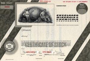 1960 Engelhard Stock Certificate