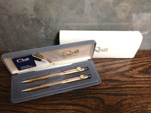 Quill Pen and Pencil Set