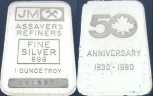 1oz JM 50 Anniversary