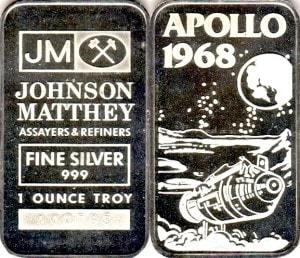 1oz JM APOLLO 1968