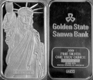 1oz JM Golden State Sanwa Bank