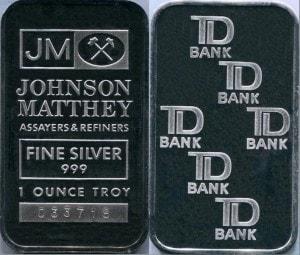 1oz JM TD Bank