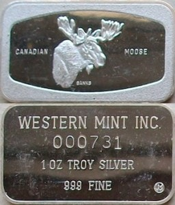 1oz JMM Western Mint Moose