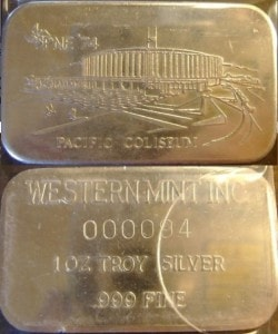 1oz JMM Western Mint Pacific Coliseum