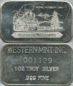 1oz JMM Western Mint  Royal Hudson Railway