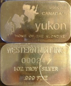 1oz JMM Western Mint Yukon Klondike