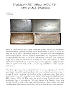 AGWire ENGELHARD 25oz INGOTS | RARE IN ALL VARIETIES 6-3-15