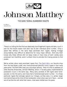 AGWire JOHNSON MATTHEY 1-30-16