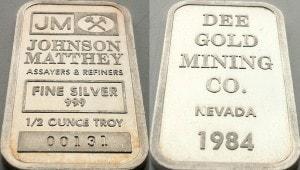 Half OZ JM Dee Gold Mining
