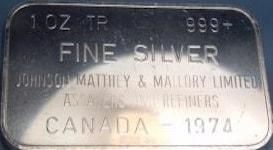 JM 1oz CANADA - 1974