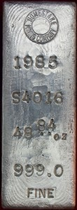 Homestake Mining Company Silver Bullion Bars