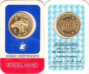 1:10OZ 1982 ASSAY CARD