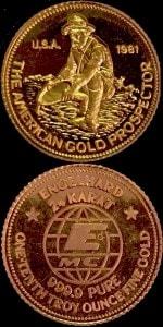 1:10oz 1981 GOLD PROSPECTOR