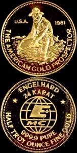 1:2OZ 1981 GOLD PROSPECTOR