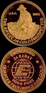 1:4OZ 1983 GOLD PROSPECTOR