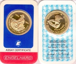 1:4OZ 1985 ASSAY CARD