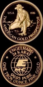1OZ 1976 GOLD PROSPECTOR
