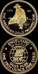 1OZ 1977 GOLD PROSPECTOR