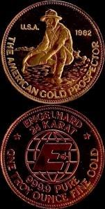 1OZ 1982 GOLD PROSPECTOR