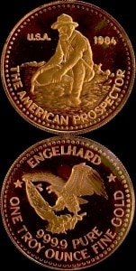 1OZ 1984 GOLD PROSPECTOR