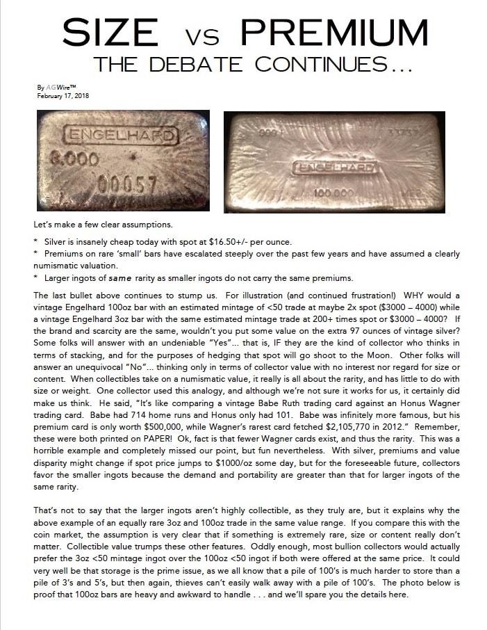 AGWire SIZE vs PREMIUM 2-17-18