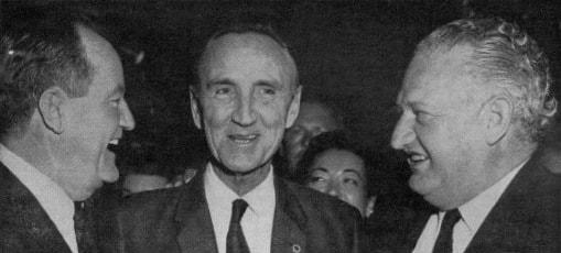 Hubert H. Humphrey, Mike Mansfield & Charles Engelhard