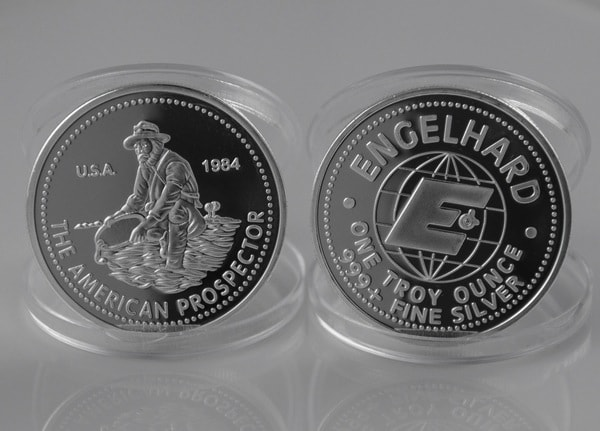 1984-Engelhard-Prospector-1-oz-troy-999-fine-silver-Very-NICE-coins-no-scratch-500pcs-lot
