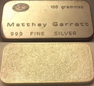 100g Matthey Garrett
