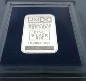 1oz JM 50 Anniversary Case