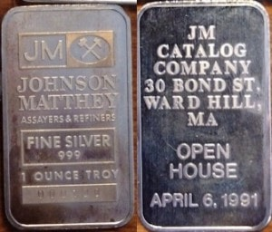 1oz JM CATALOG Co. April 6, 1991