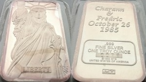 1oz JM Charann and Fredric 1985