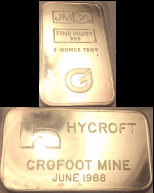 1oz JM Hycroft Crofoot Mine