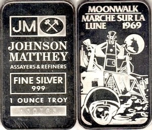 1oz JM MOONWALK 1969
