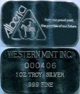 1oz JMM Western Mint Inc Alberta