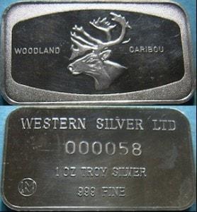 1oz JMM Western Mint Woodland Caribou