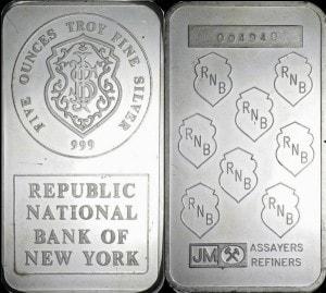 5oz JM NY BANK