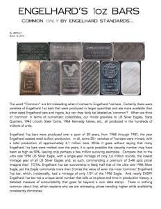 AGWire ENGELHARD'S 1oz BARS 3-19-16