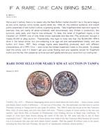Rare Dime Brings $2M  January 16, 2016