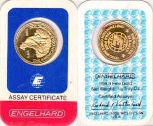 1:10OZ 1983 ASSAY CARD