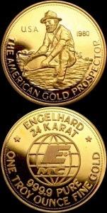 1OZ 1980 GOLD PROSPECTOR