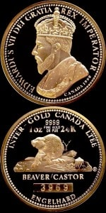 1OZ 1980 GOLDEN BEAVER