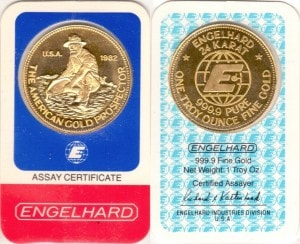 1OZ 1982 ASSAY CARD