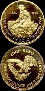1OZ 1986 GOLD PROSPECTOR