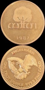 1oz 1987 GOLD COTTOM ROUND