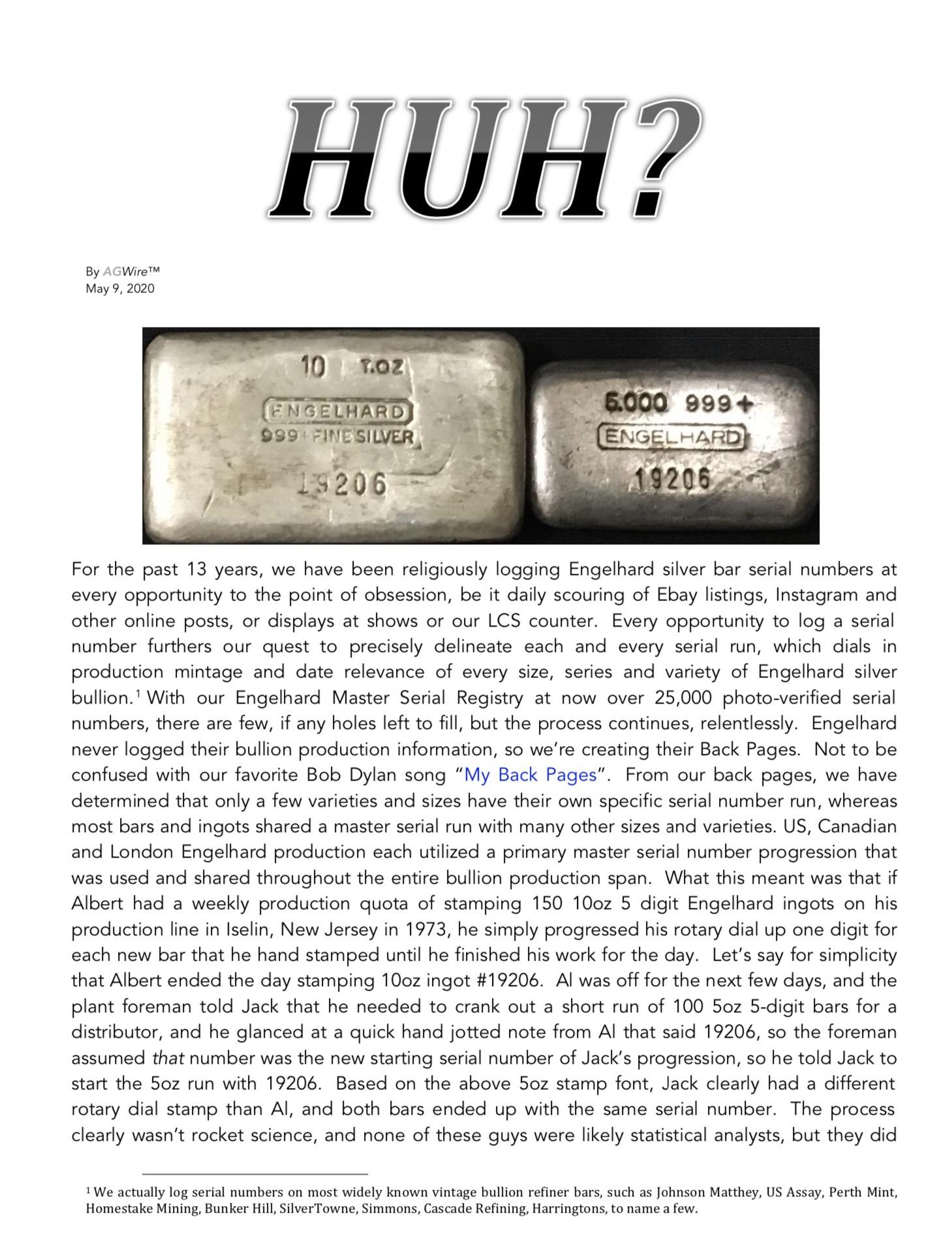 AGWire HUH? 5-8-20