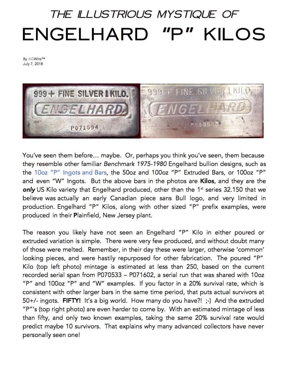 AGWire ENGELHARD P KILOS 7-6-18
